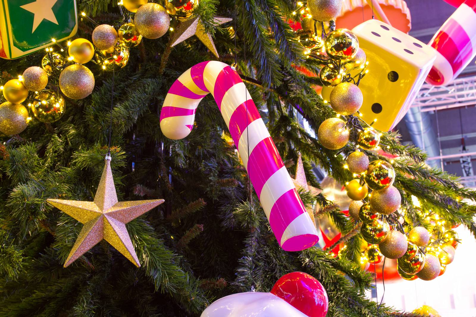Sucre D Orge Exterieur décoration de noël sucre d'orge géant lumineux led à toulon