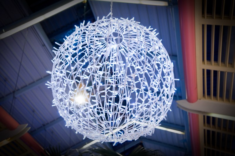 Boule de noel lumineuse led d corations de no l lyon for Grosse boule de noel exterieur